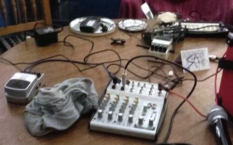 Linda's gig equipment